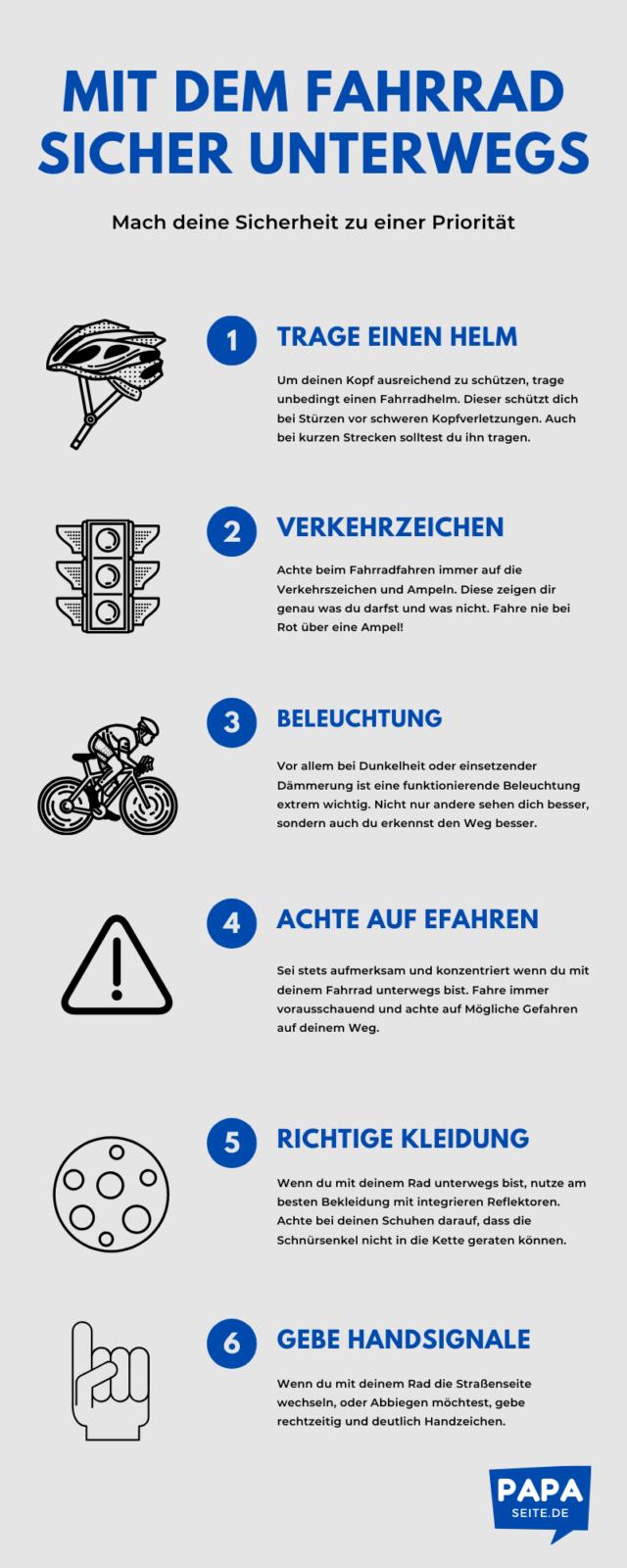 Fahrradsicherheit-Infografik
