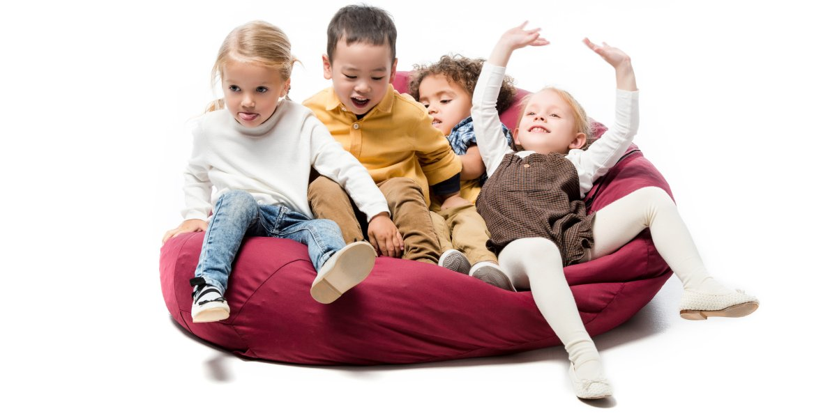 Der Sitzsack Kinder lieben ihn zum toben und relaxen