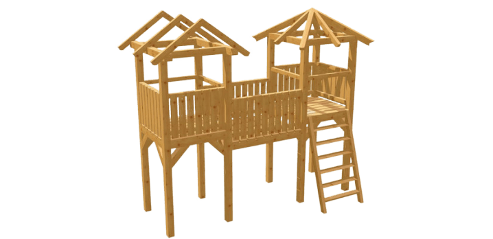 Spielturm selber bauen - Bauanleitung zu Spielturm 2