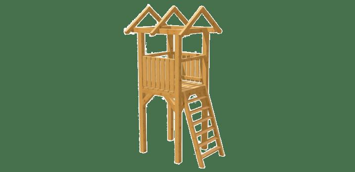 Spielturm selber bauen - Bauanleitung zu Spielturm 4