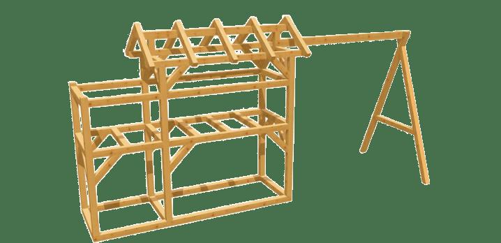 Spielturm selber bauen - Bauanleitung zu Spielturm 8