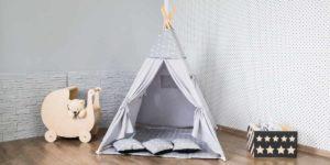 Das Tipi Zelt ist ein gemütlicher Rückzugsort zum spielen und verstecken
