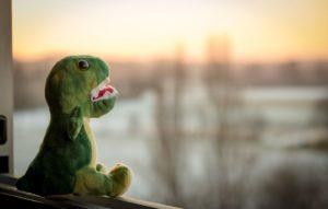 Dinosaurier Kuscheltier aus Plüsch